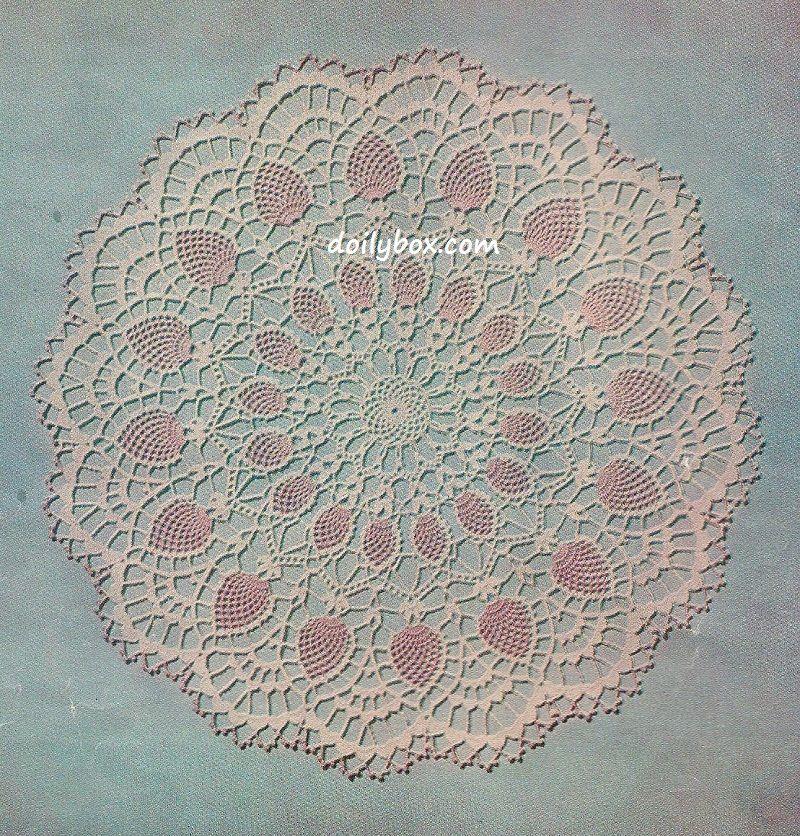 Free Crochet - Large Sunburst Pineapple Doily Pattern | Vintage ...