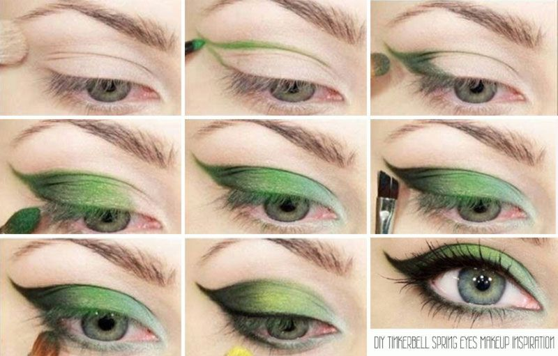 Whimsy Eye Makeup See Also Fantastic Nails And Makeup Ideas Makeup For Green Eyes Tinkerbell Makeup Spring Makeup Inspiration