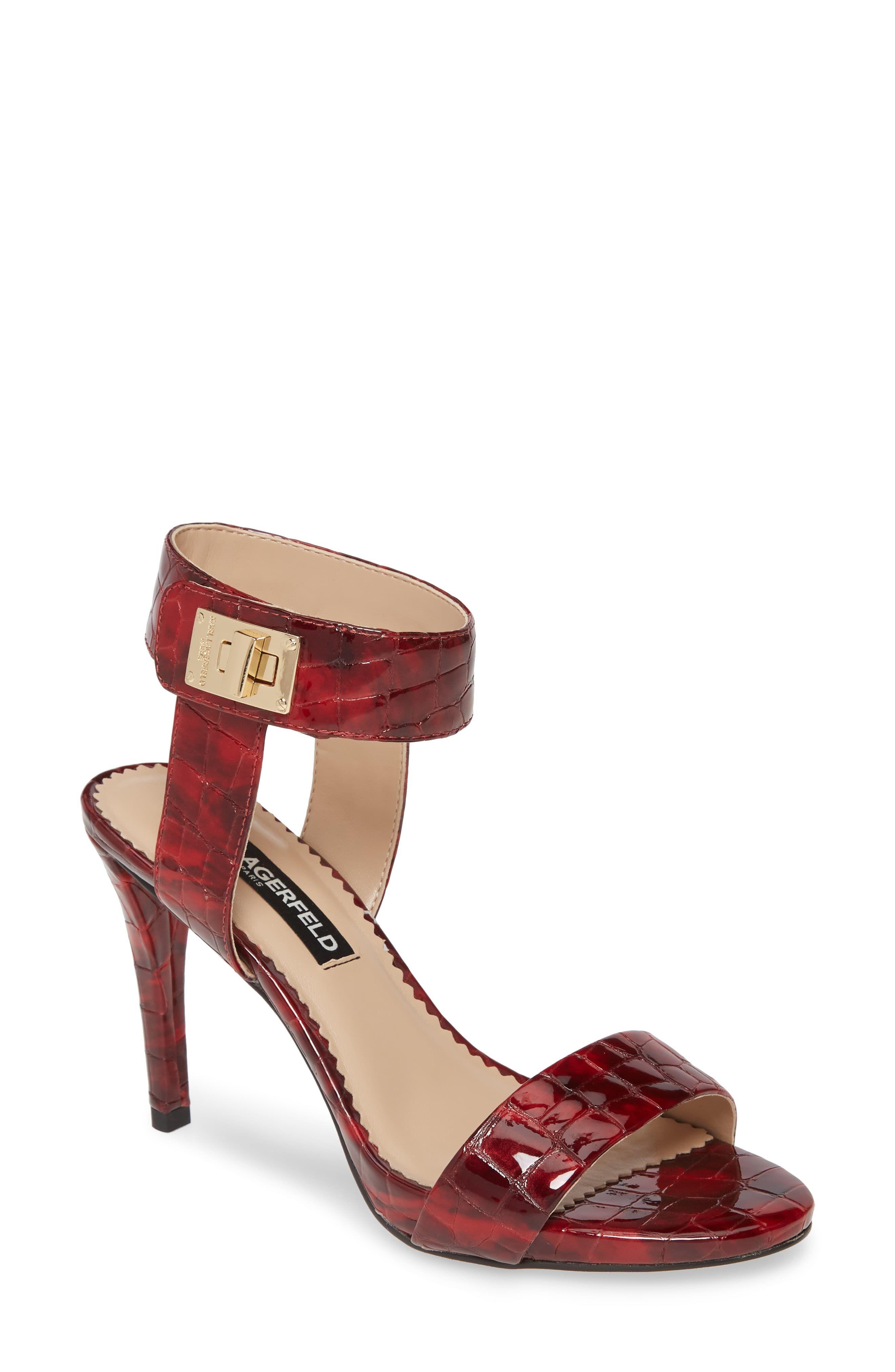 Women's Karl Lagerfeld Paris Olivia Ankle Strap Sandal, Size