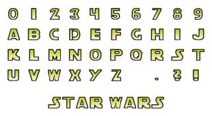 Letras Star Wars