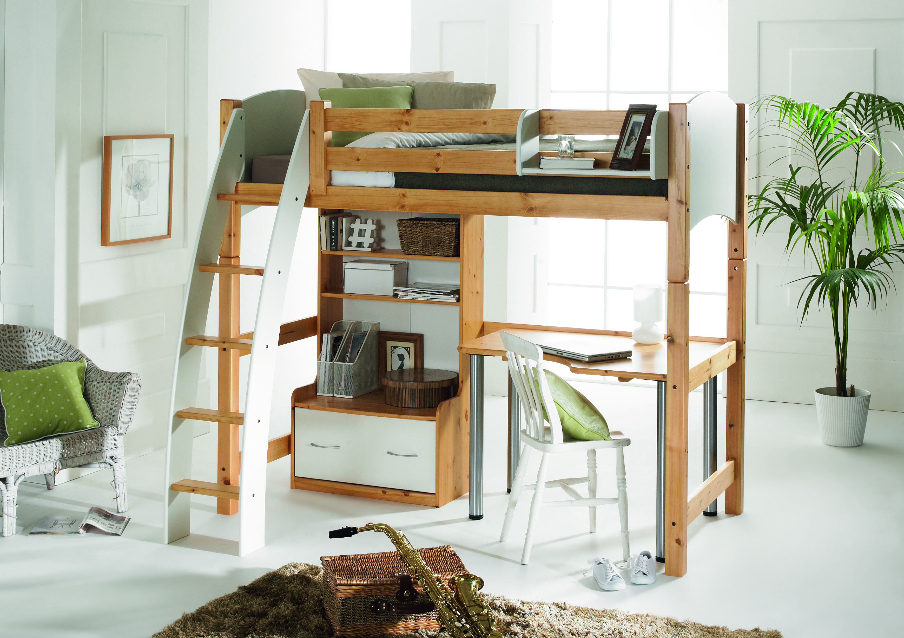 Pippin High Sleeper Sofa Bed Corner Desk Barker Stonehouse