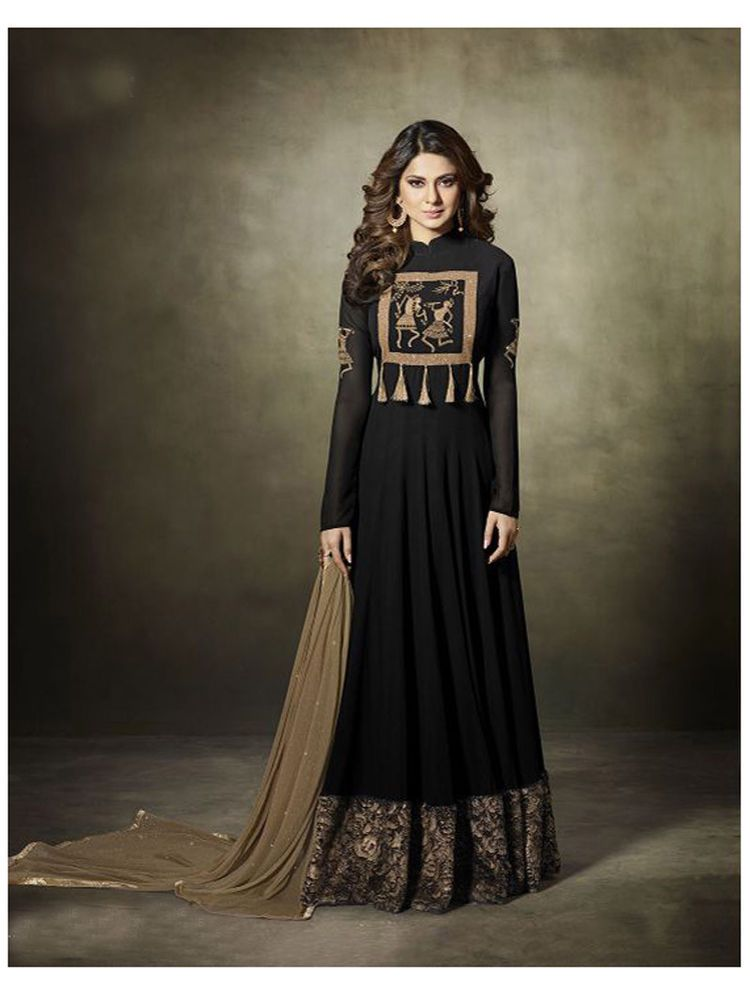 7f4da9717126f Bollywood ethnic new design Party wear Anarkali Dress for women-Black Color  #Shoppingover #SalwarKameez