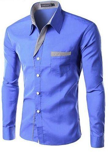 9ac98becf Camisa Masculina com Detalhes Listrados - Azul in 2018