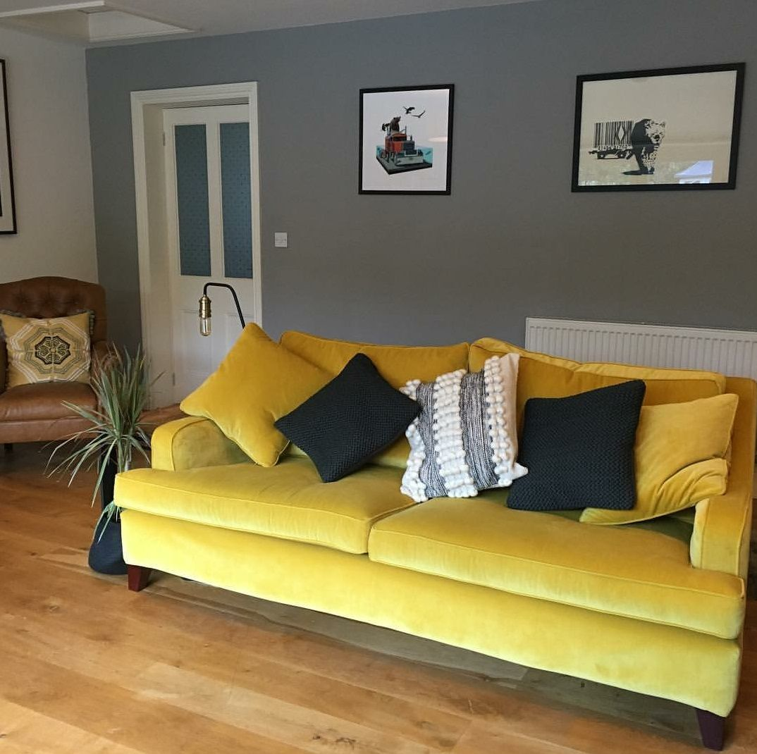Cool This Bright Velvet Omega Canary From Linwood Transforms Interior Design Ideas Clesiryabchikinfo