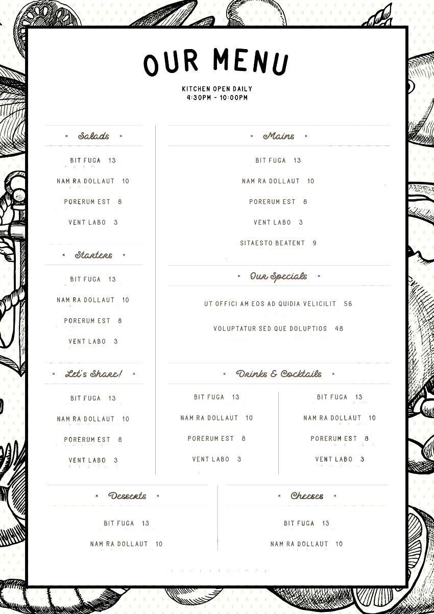 Indesignyou Restaurant Websitehow Template Indesign Design Menu Make More Find Our And Can Cartas De Menu Diseno Del Menu De Cafeteria Menu Desing