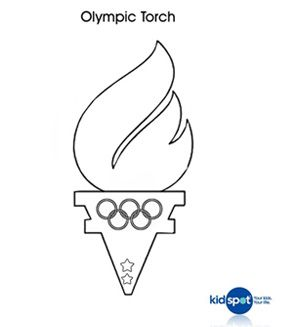 Olympic Torch colouring page Kids olympics Olympic idea