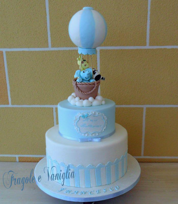 Extrêmement Torta Battesimo con Mongolfiera | Cake CM46