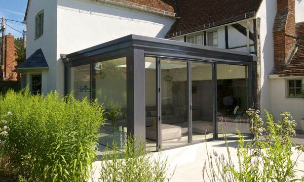 Modern lean to conservatories google search for Conservatory doors exterior