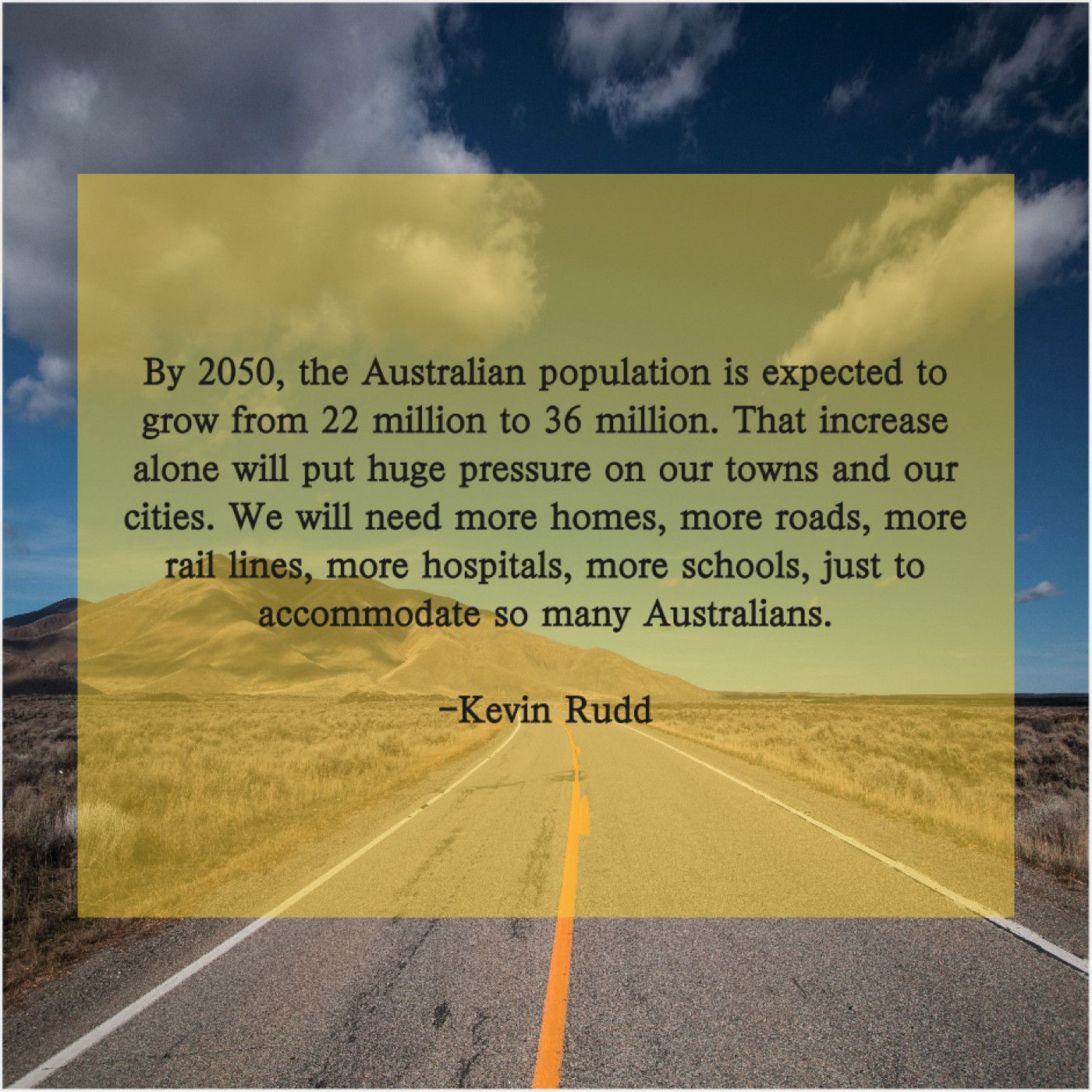 Kevin Rudd By 2050 The Australian Population By 2050 The Australian Population Is Expected To Grow From 22 Million To Michael Palin Emily Watson Viral Quotes