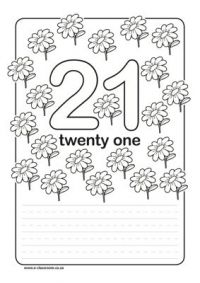 images of numbers 21   Numbers 21-30 – Worksheets ...