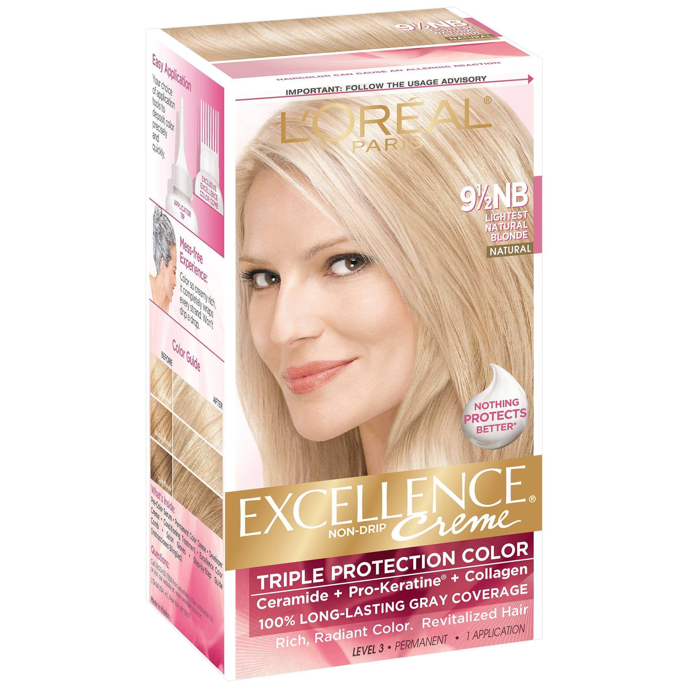 L Oreal Excellence Creme 9 1 2nb Lightest Natural Blonde