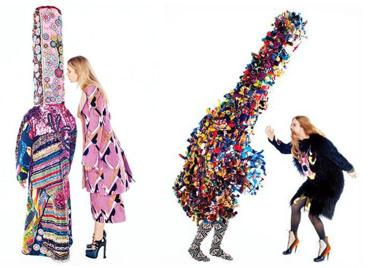 Nick Cave- artist, performer, professor. Fashion costumes for Harper's Bazaar. NYC.