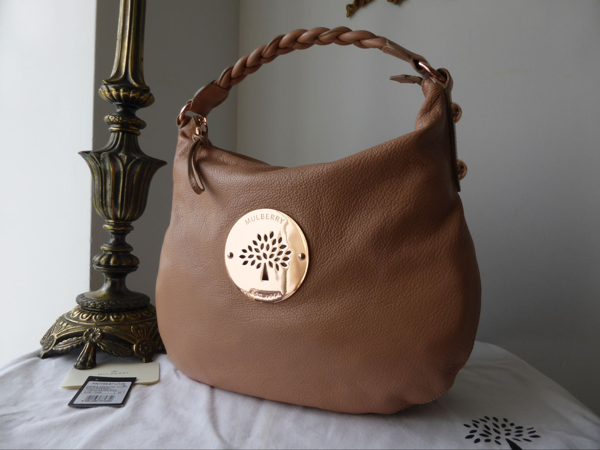 12acd6853e3 ... france mulberry medium daria hobo in plaster pink soft spongy leather  with rose gold hardware npnbags