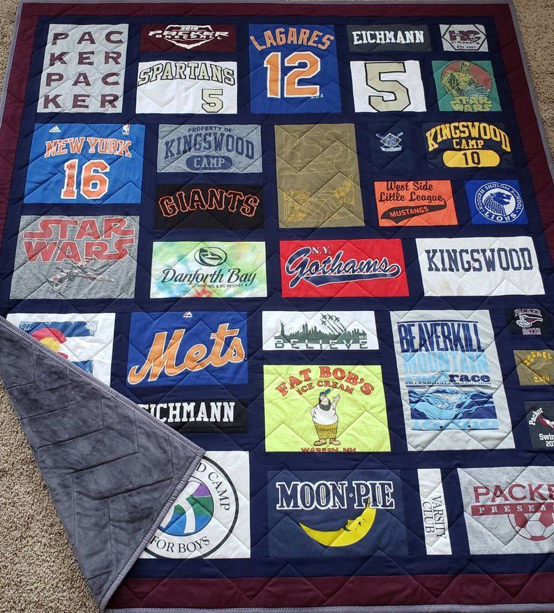 T Shirt Quilt Custom Made Mosaic Tshirt Quilt Different