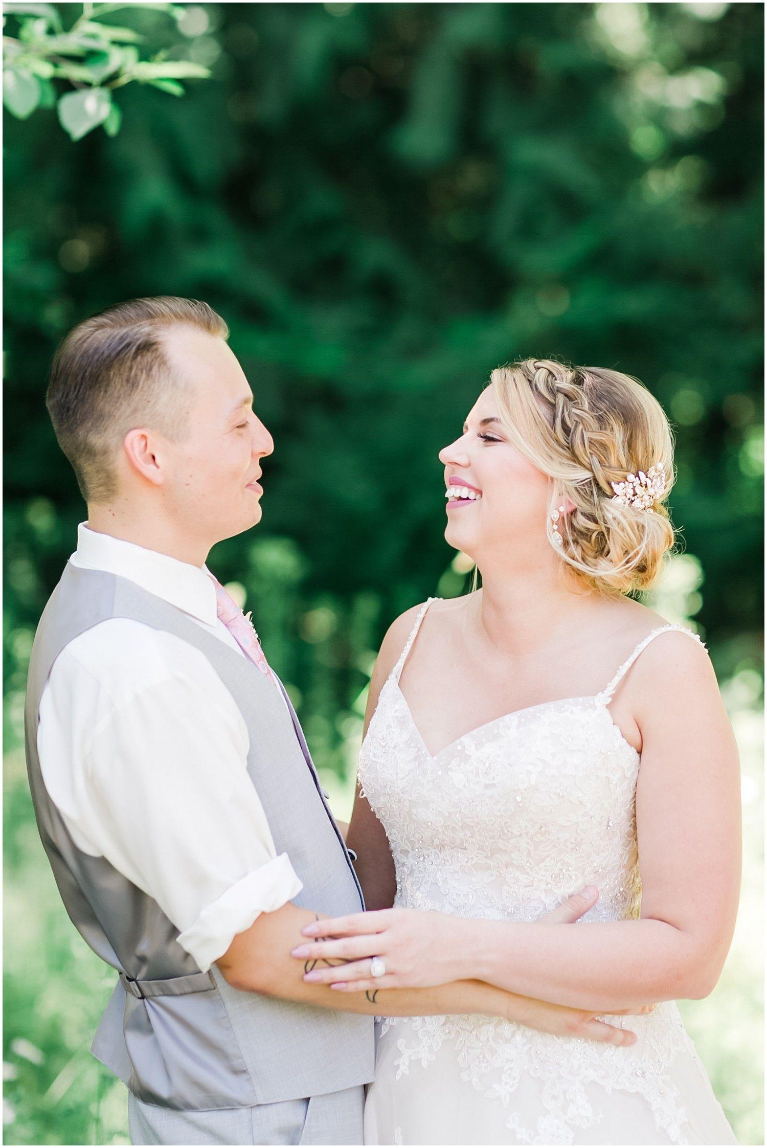quinton & nicole's rustic blush wedding at trinity tree farm in