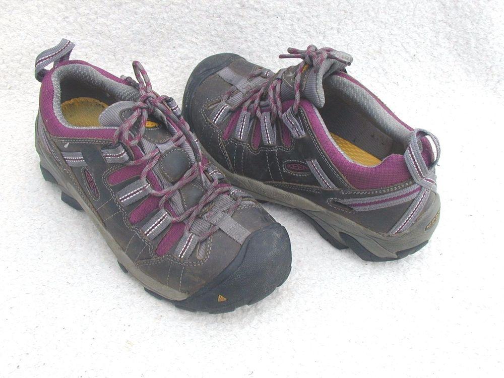 Keen detroit work shoes sneakers gray purple 1007016 women