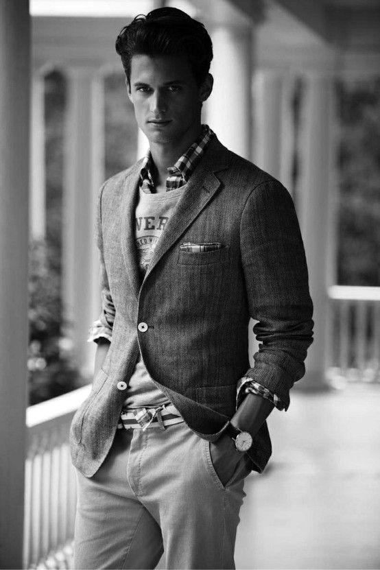 Smart Jumper Blazer Combination A Gentleman S Style Pinterest