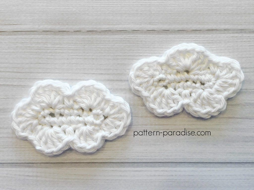 Free Crochet Pattern: Cloud Applique | Crochet | Pinterest | Crochet ...