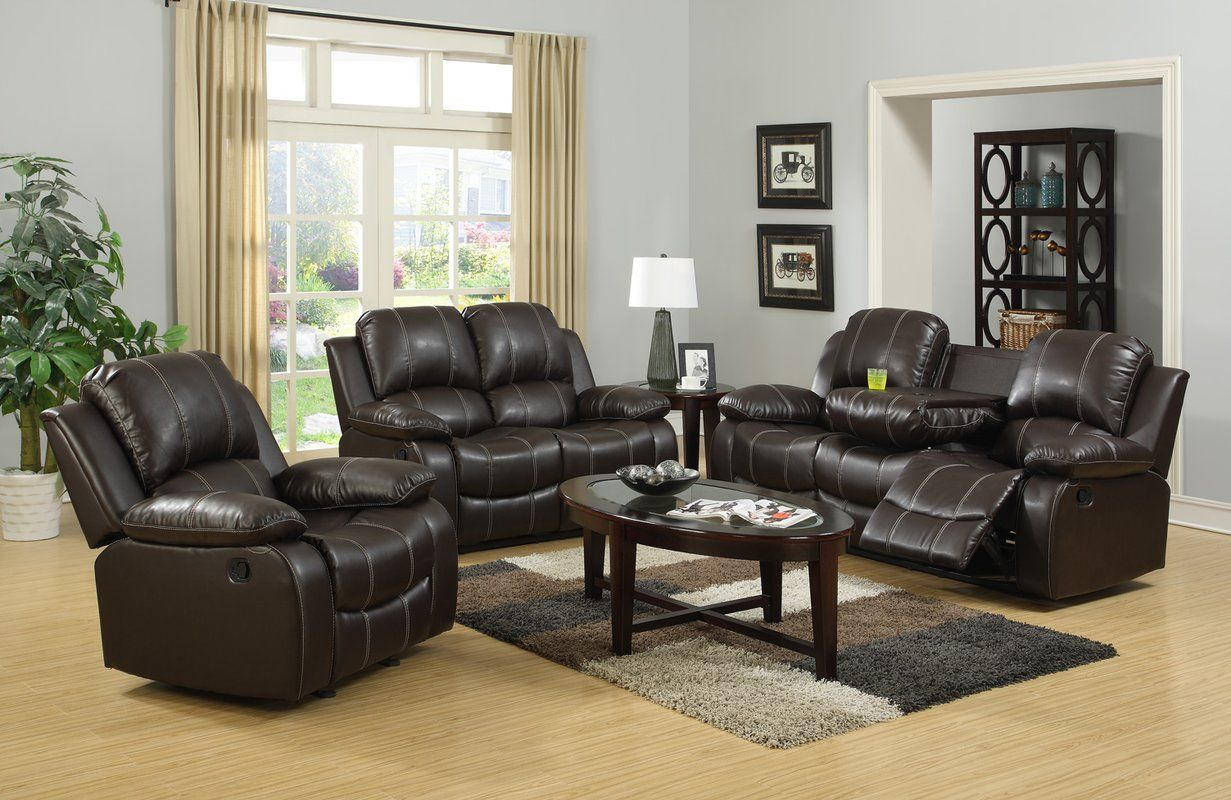 Like To Ugalde 3 Piece Living Room Set By Red Barrel Studio Contemporary Living Room Sets 3 Piece Living Room Set Living Room Sets #warnerton #chocolate #power #reclining #living #room #set