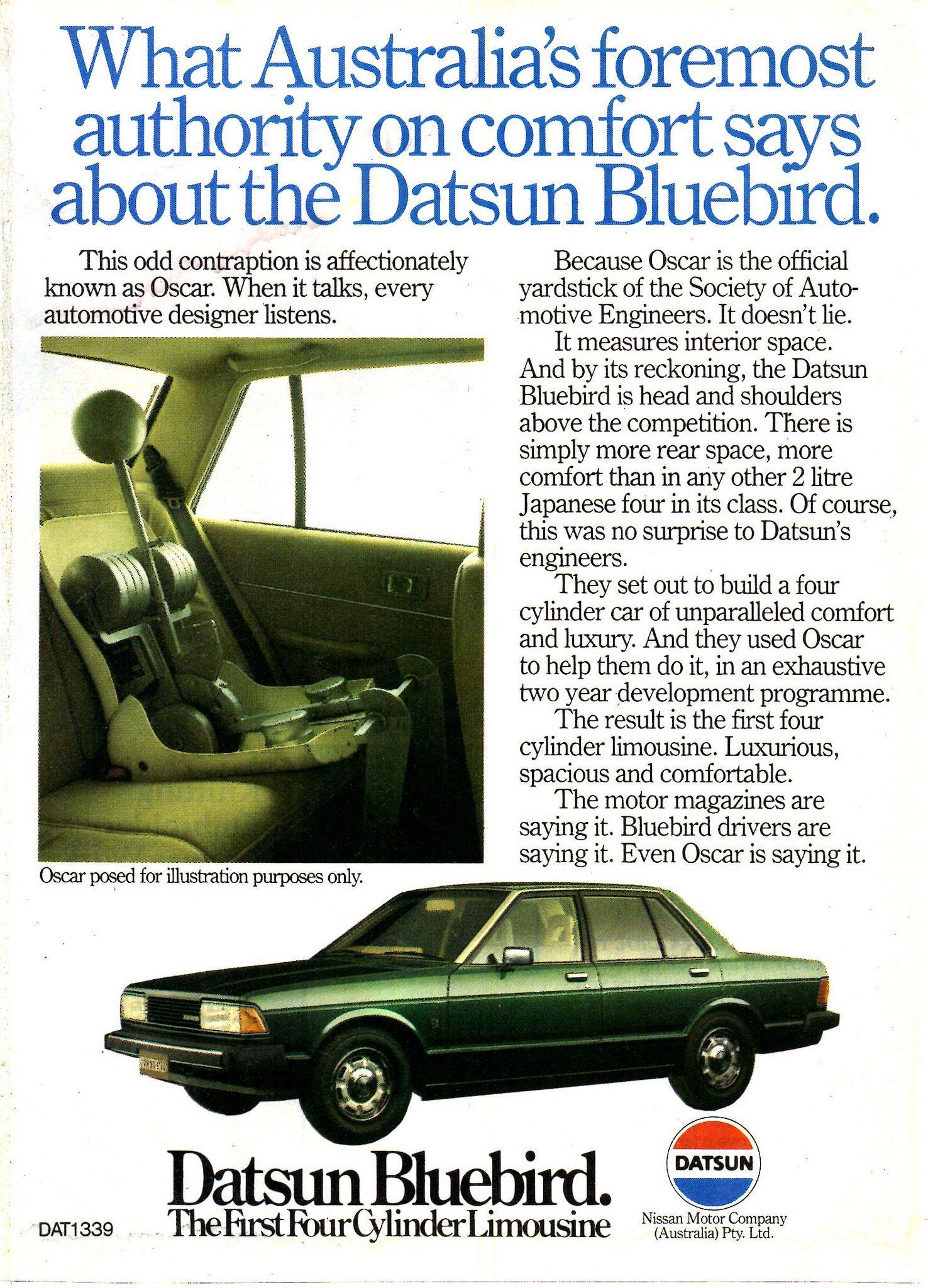 1982 Datsun Bluebird Nissan Aussie Original Magazine Advertisement Datsun Bluebird Datsun Nissan