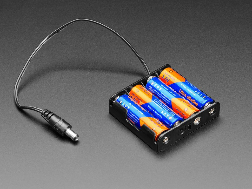 4 X Aa Battery Holder With 2 1mm Plug Battery Holder Electronics Projects Plugs
