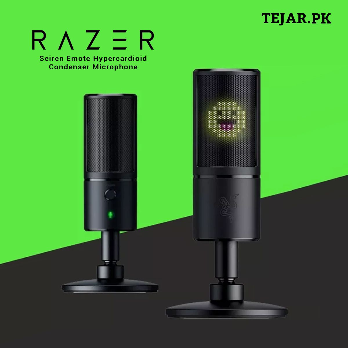 Razer Seiren Emote Hypercardioid Condenser Microphone Microphone Razer Usb Microphone