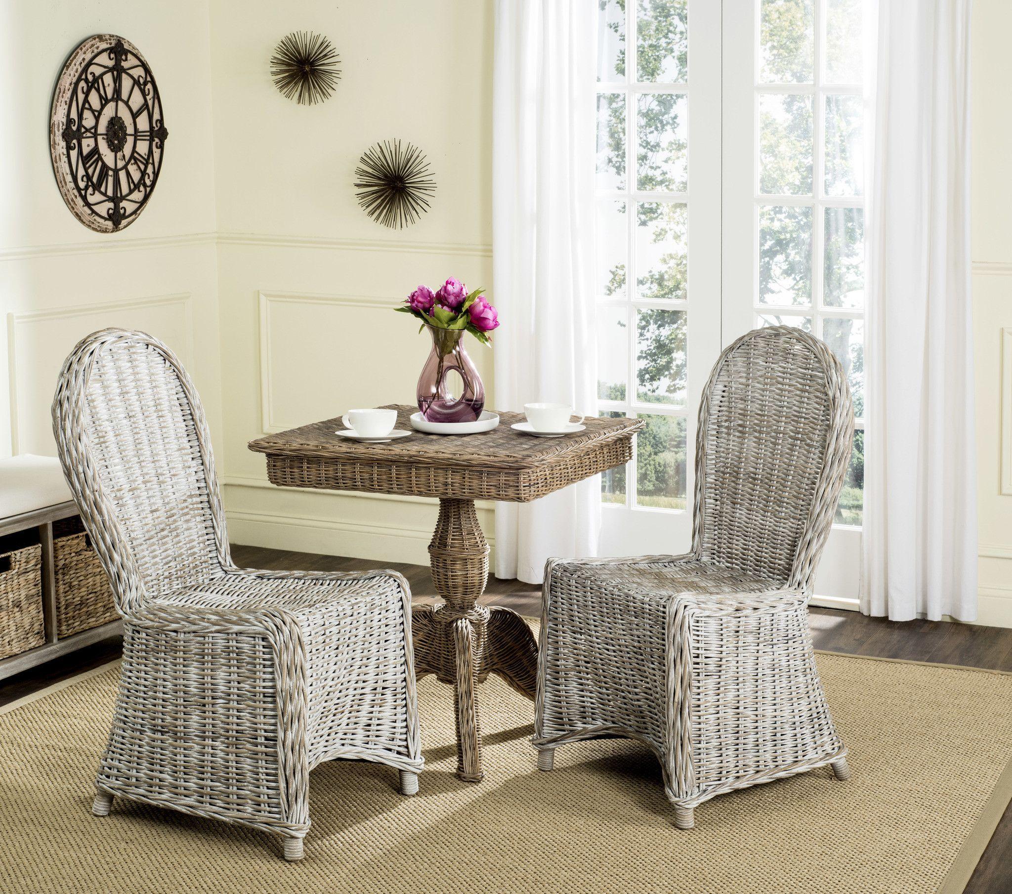 Safavieh Idola Wicker Dining Chair, Set of 2 | Wicker dining chairs ...