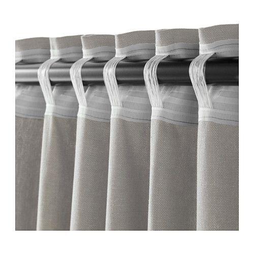 ingert gordijnen met embrasse 1 paar grijs maisons et d co. Black Bedroom Furniture Sets. Home Design Ideas