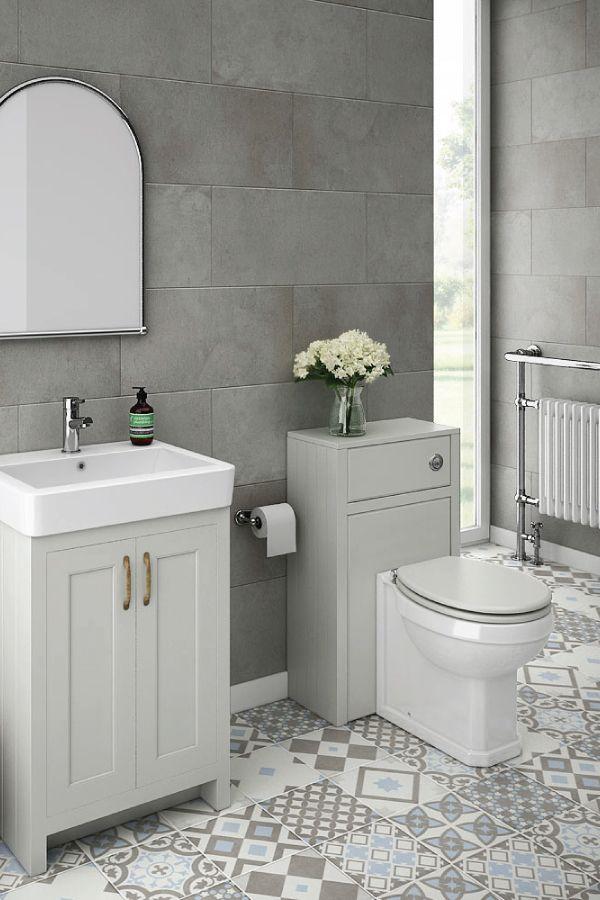 Chatsworth Traditional Grey Sink Vanity Unit  Toilet