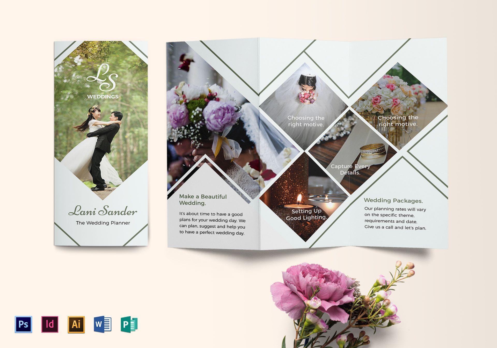 Wedding Planner Brochure Template Wedding brochure, What