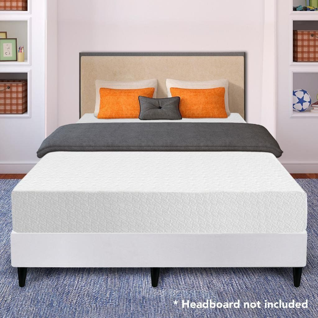 10 classic full 5lb density memory foam mattress bed with 2 free gel