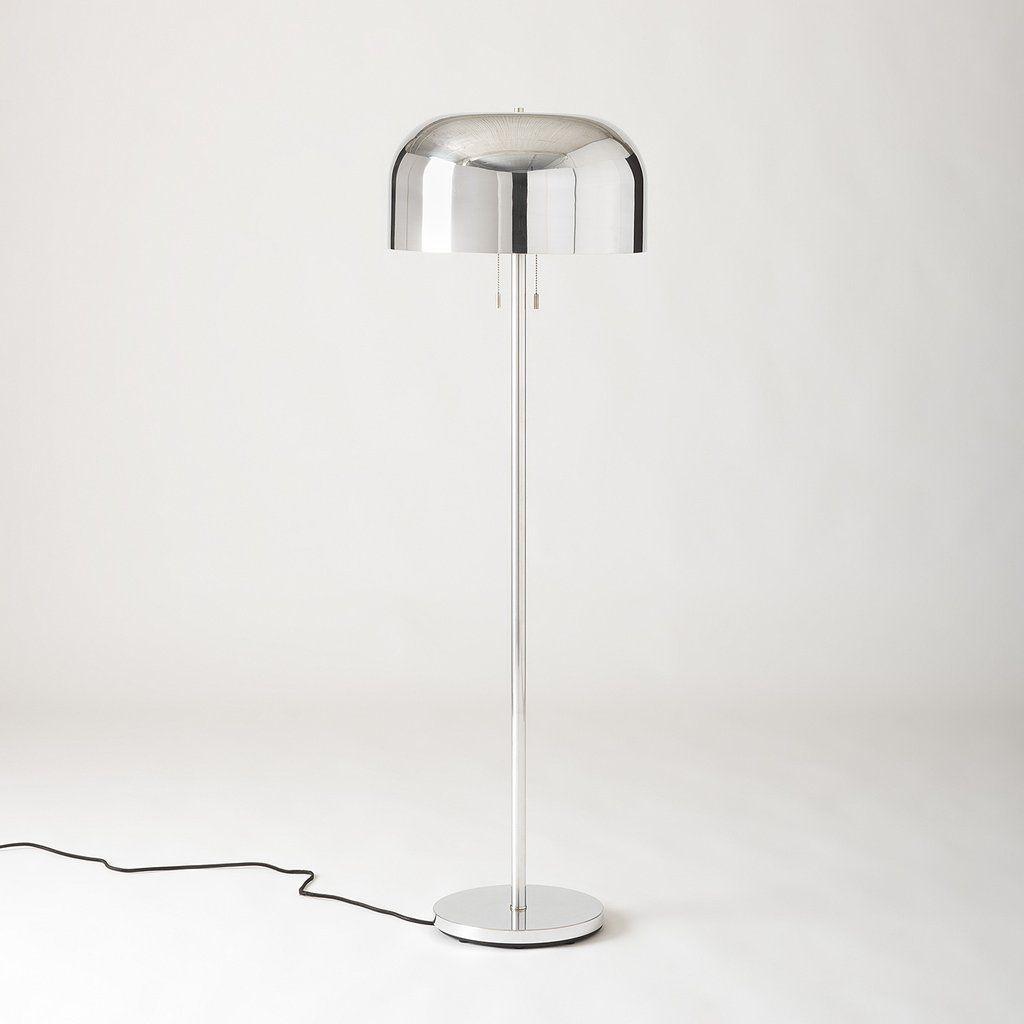 Donna Floor Lamp Polished Aluminum