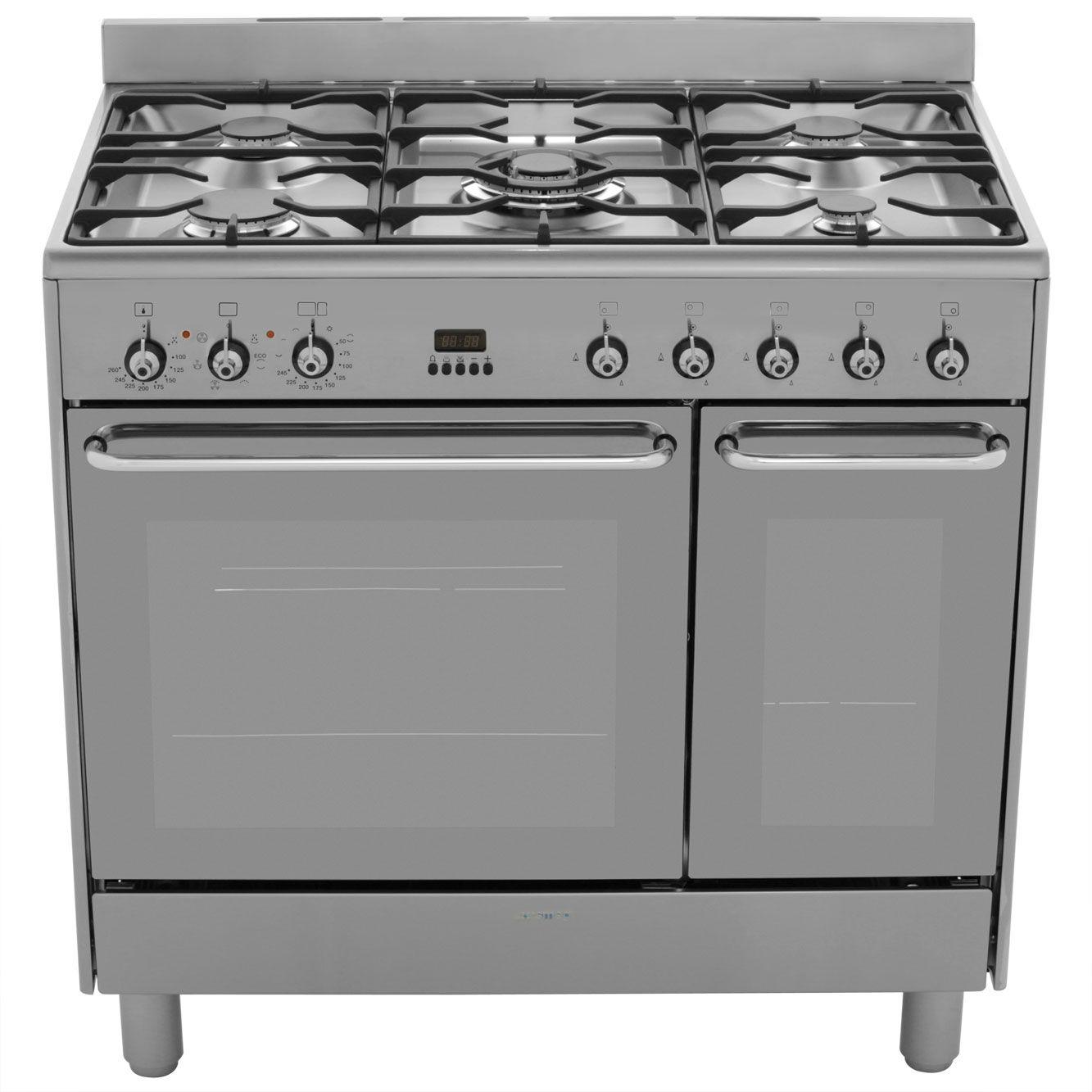 Smeg CG92X9 90cm Dual Fuel Range Cooker - Stainless Steel