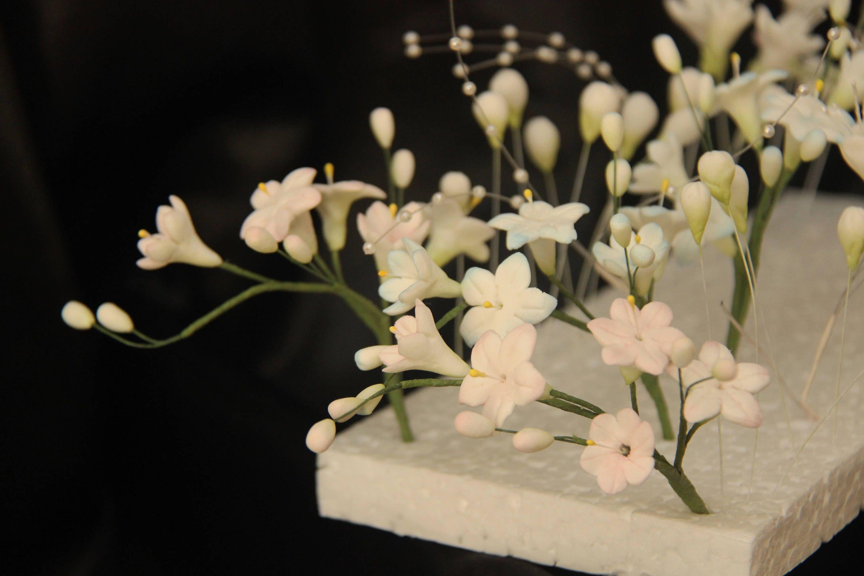 Gumpaste Hyacinth Filler Spray For Wedding Cake Toppers White