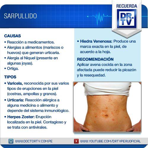 Tipos De Sarpullido Y Como Tratarlo Alergia A Los Alimentos Piel Sana Cuidado Personal