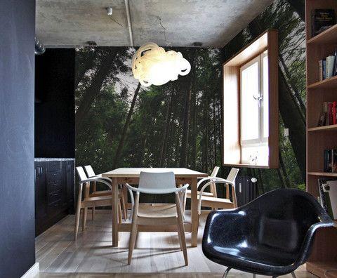 Tall tree wall mural eazywallz art sticker wallpaper design home decor also forest murals rh pinterest