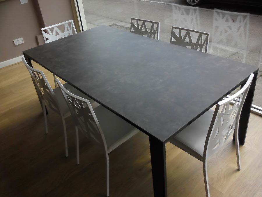 slate garden dining table ceramic top this black ashley tile room