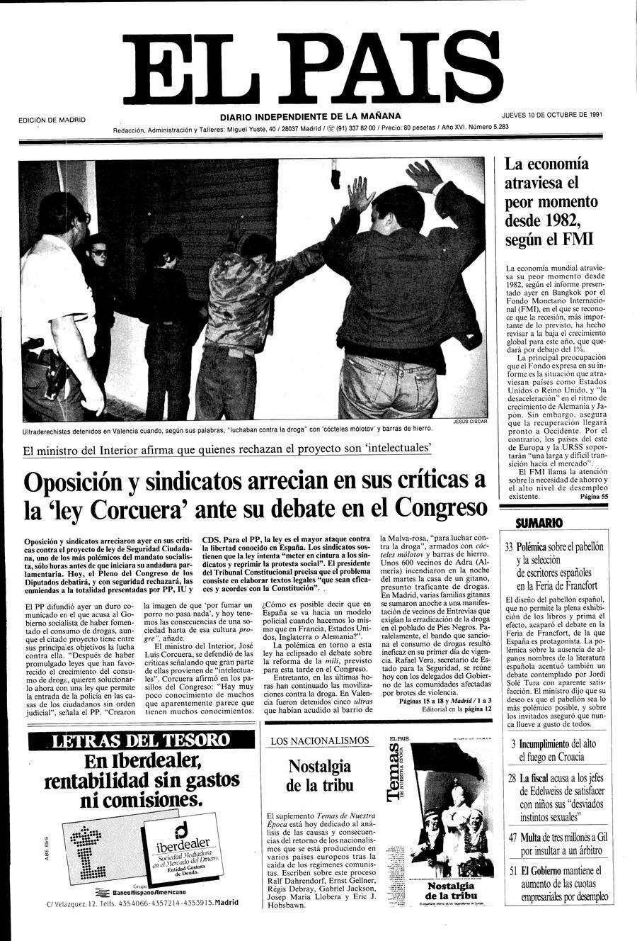 10 de Octubre de 1991