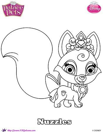 Disney Princess Palace Pet Coloring Page Of Nuzzles Free