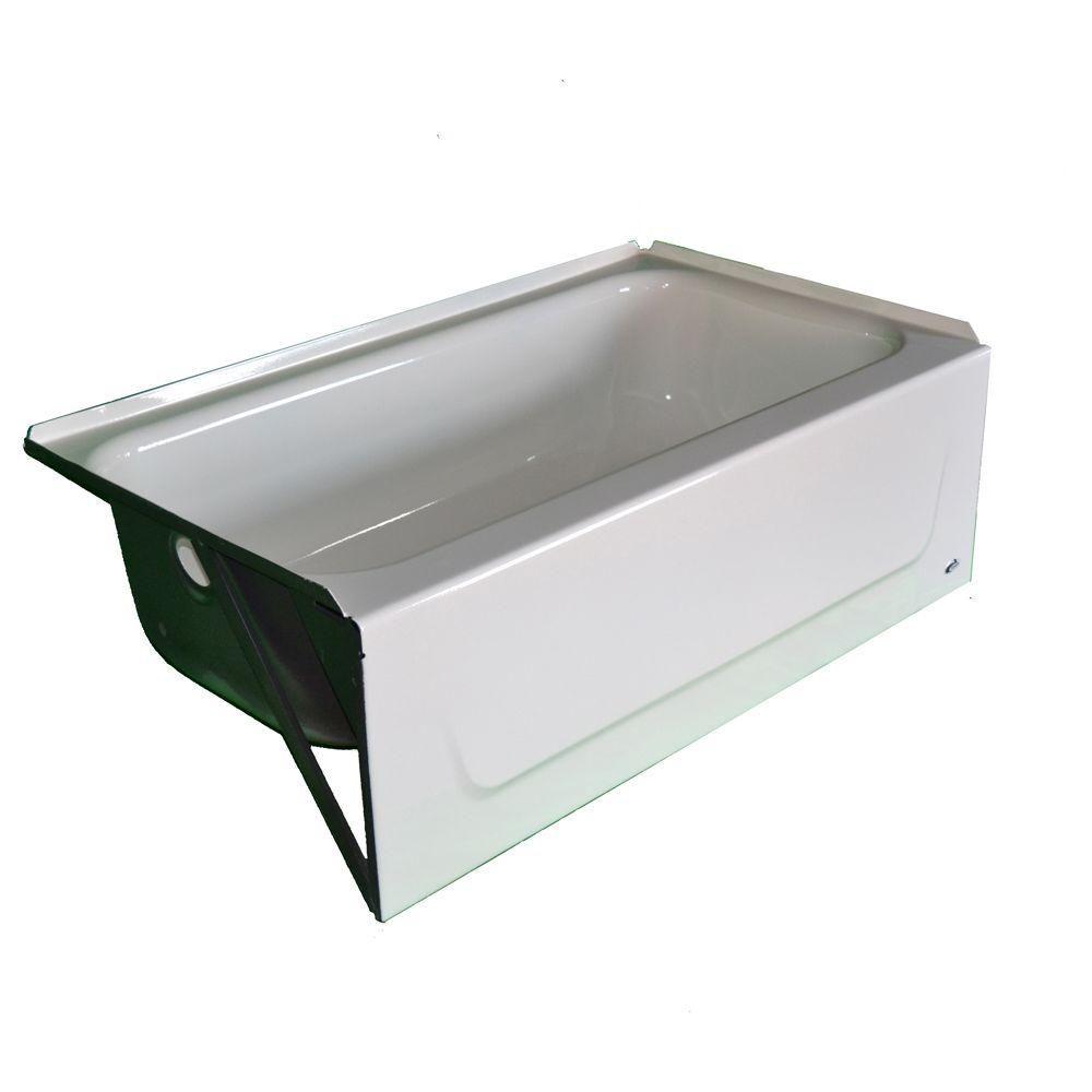 Bootz Industries Kona 4-1/2 ft. Left-Hand Drain Soaking Tub in White ...