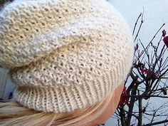 Aglaia by Martina Sommer free super bulky 'Aglaia' is a cozy winter hat of rustic elegance.