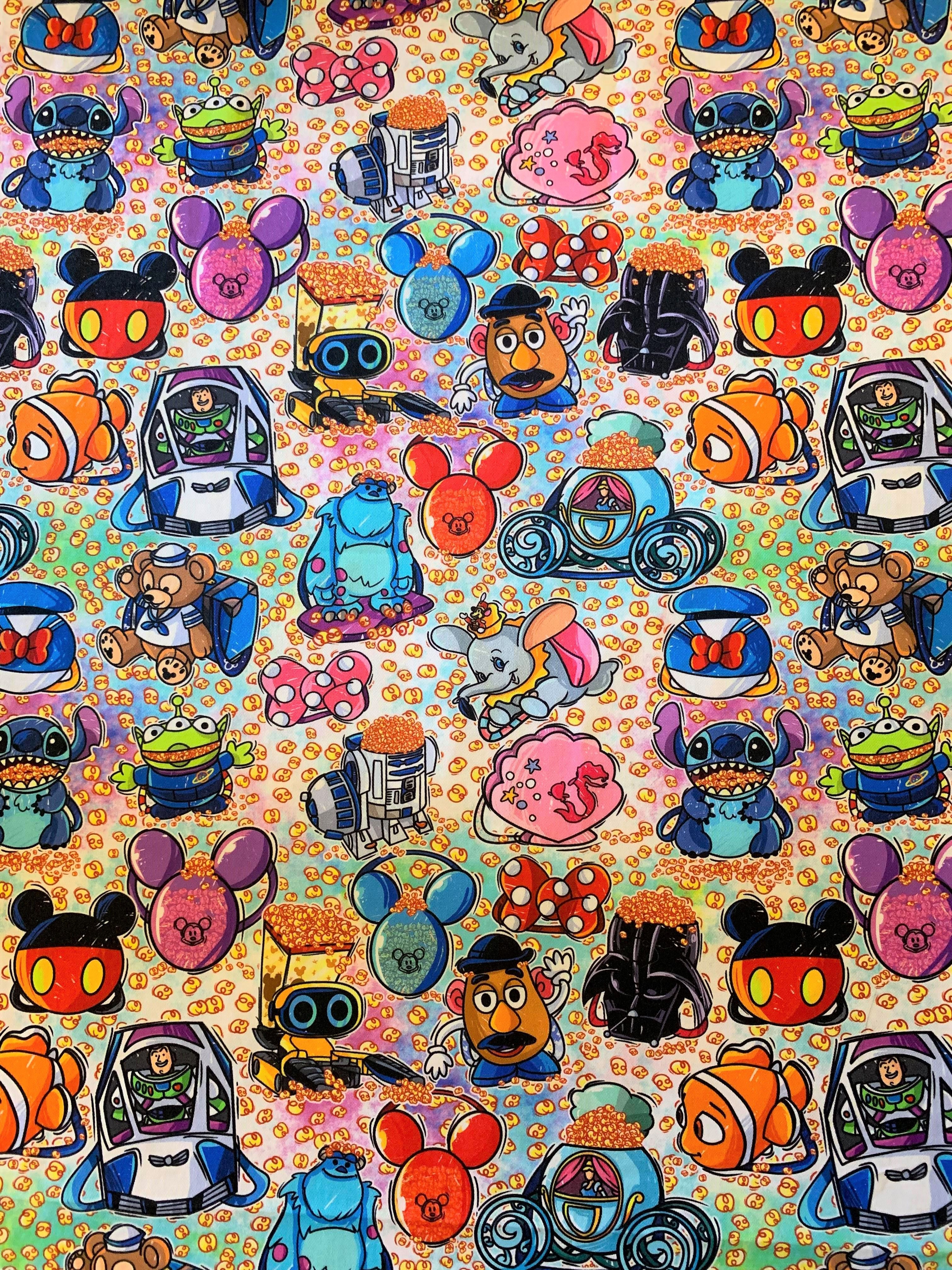 Disney Popcorn Buckets Disney Wallpaper Disney Fabric