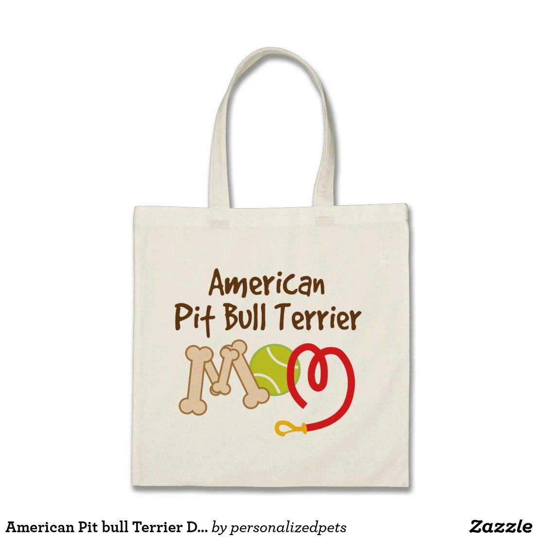 American Pit bull Terrier Dog Breed Mum Gift Tote Bag