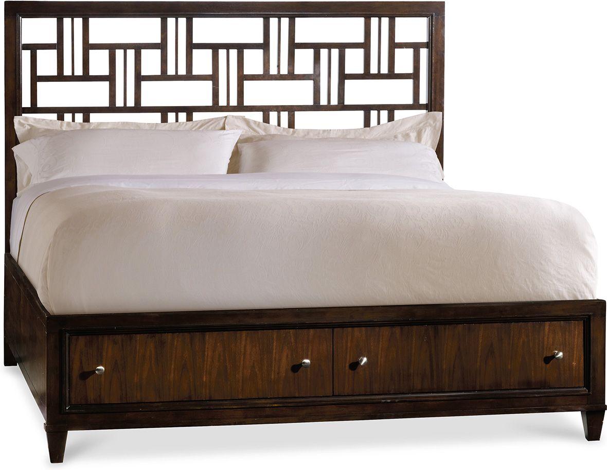 Hooker Furniture Ludlow Fretwork Storage Bed