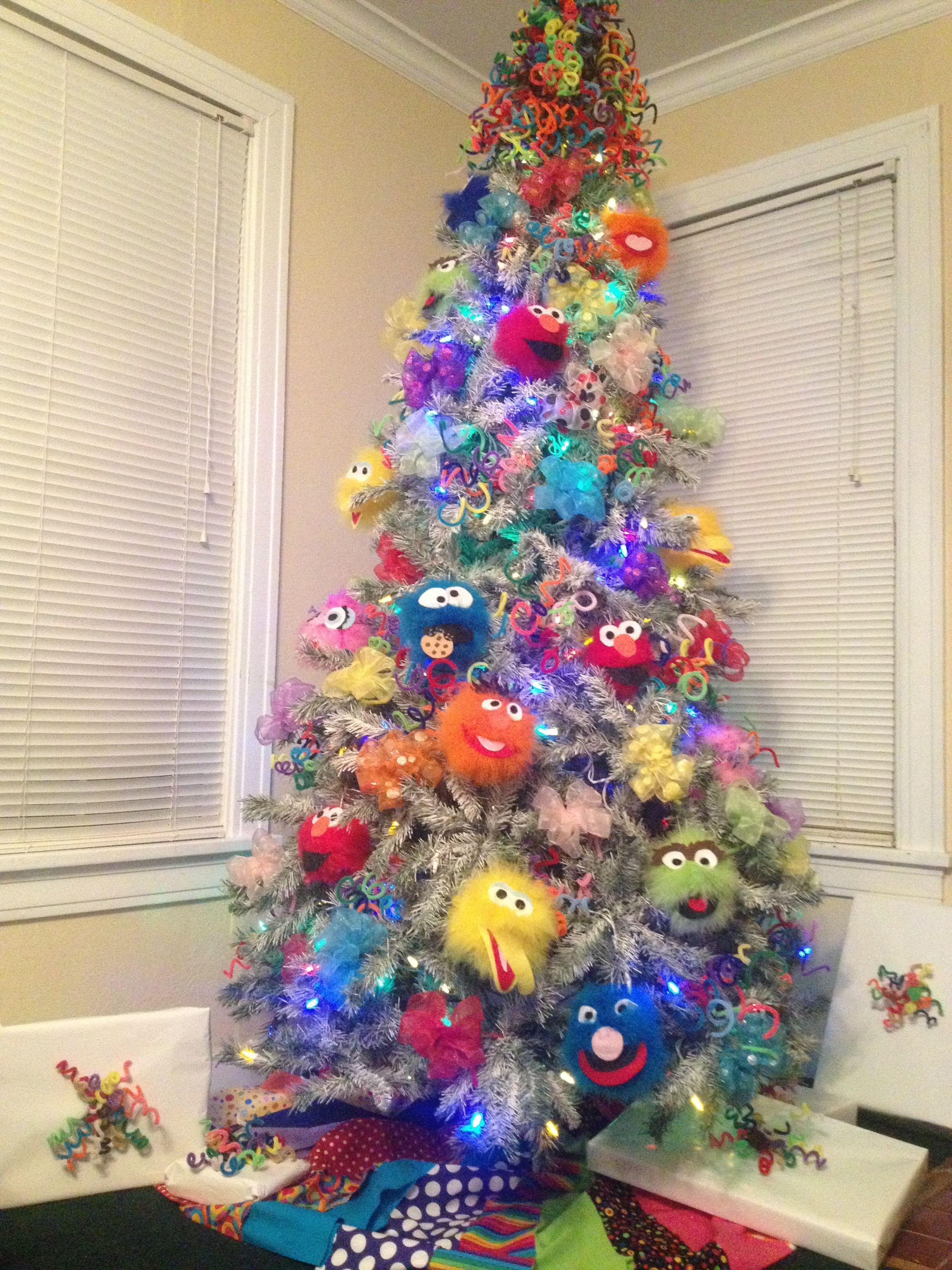 Sesame Street Themed Tree Christmas Trees Children