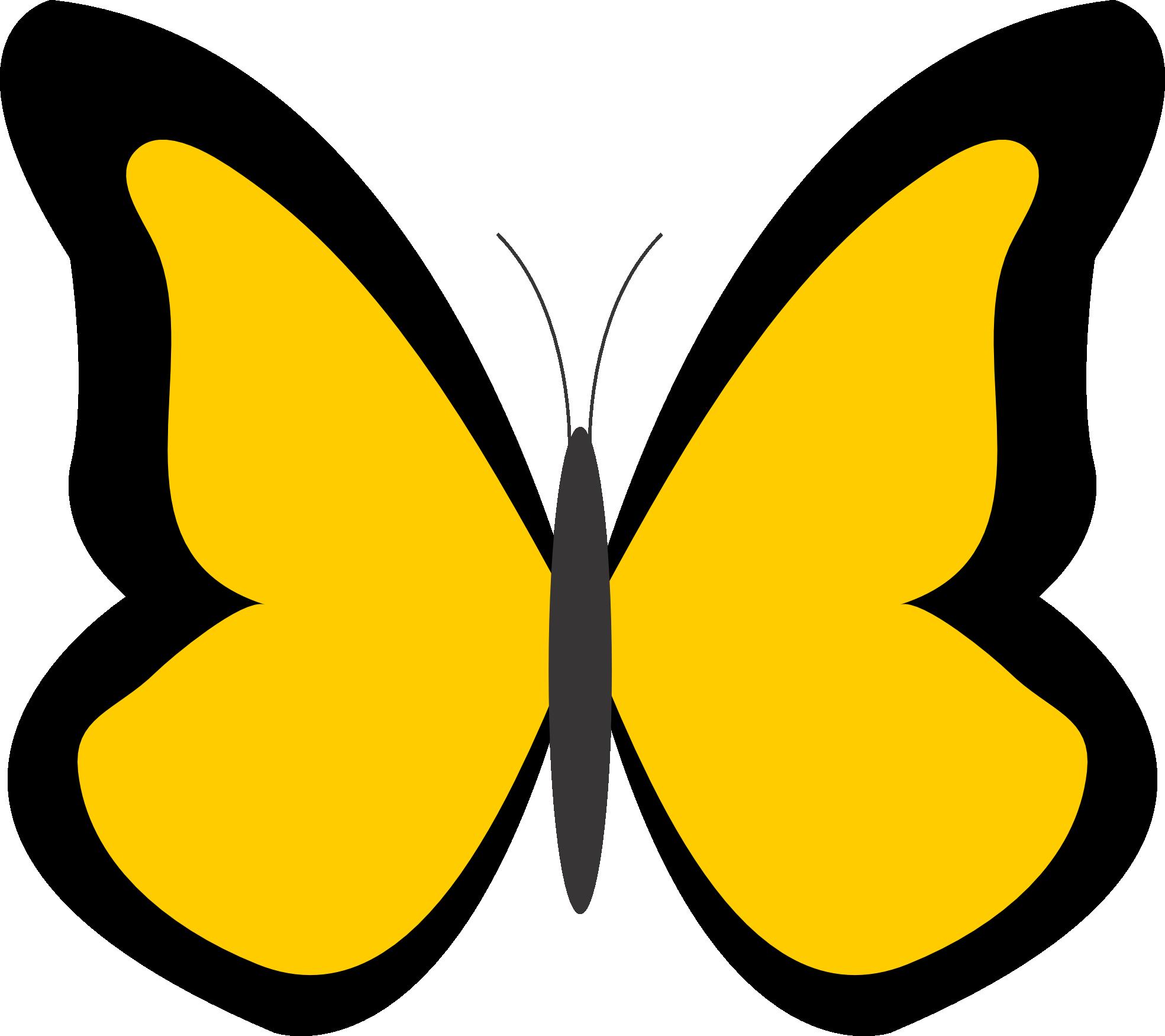 Butterfly yellow. Clip art clipart best