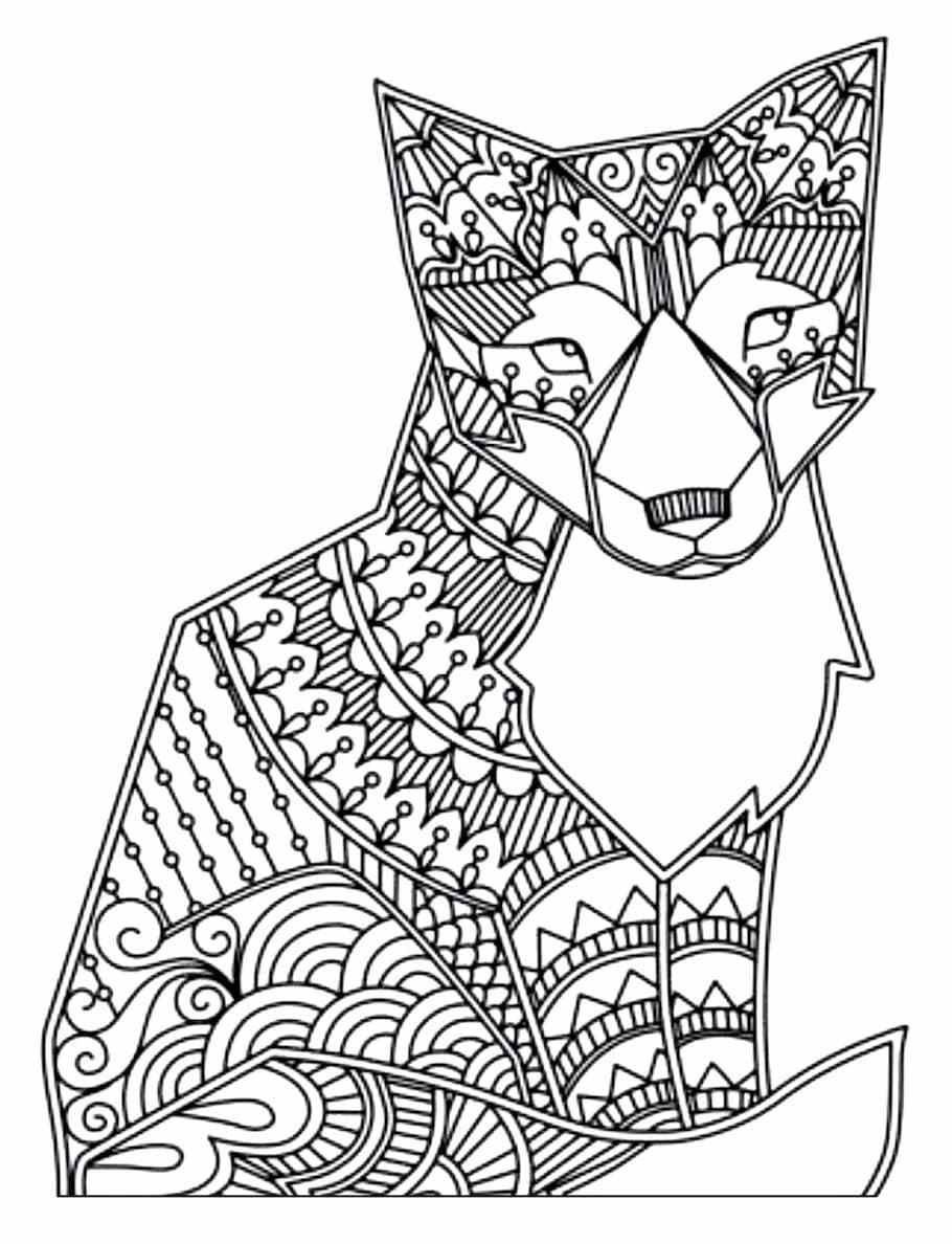 Fox Doodle Doodle is Art Fox coloring page, Animal