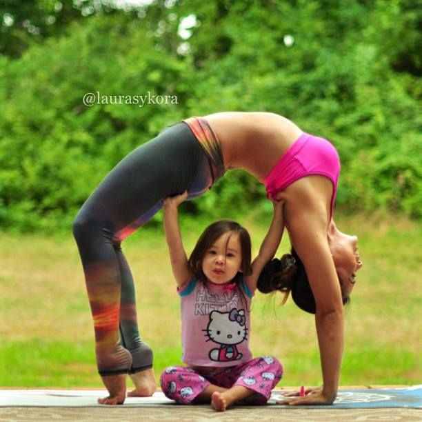 Instagram Hit Cutest Mom Daughter Yoga Duo