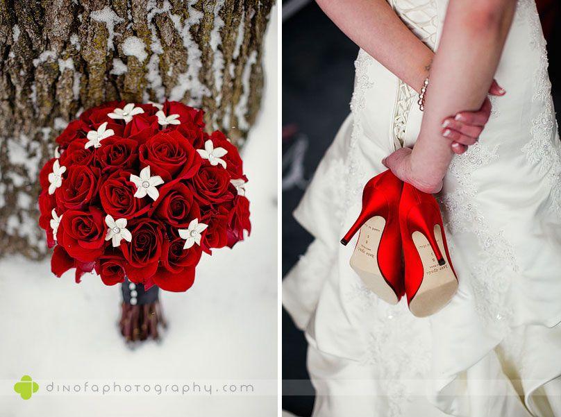 Accessoires mariée rouges