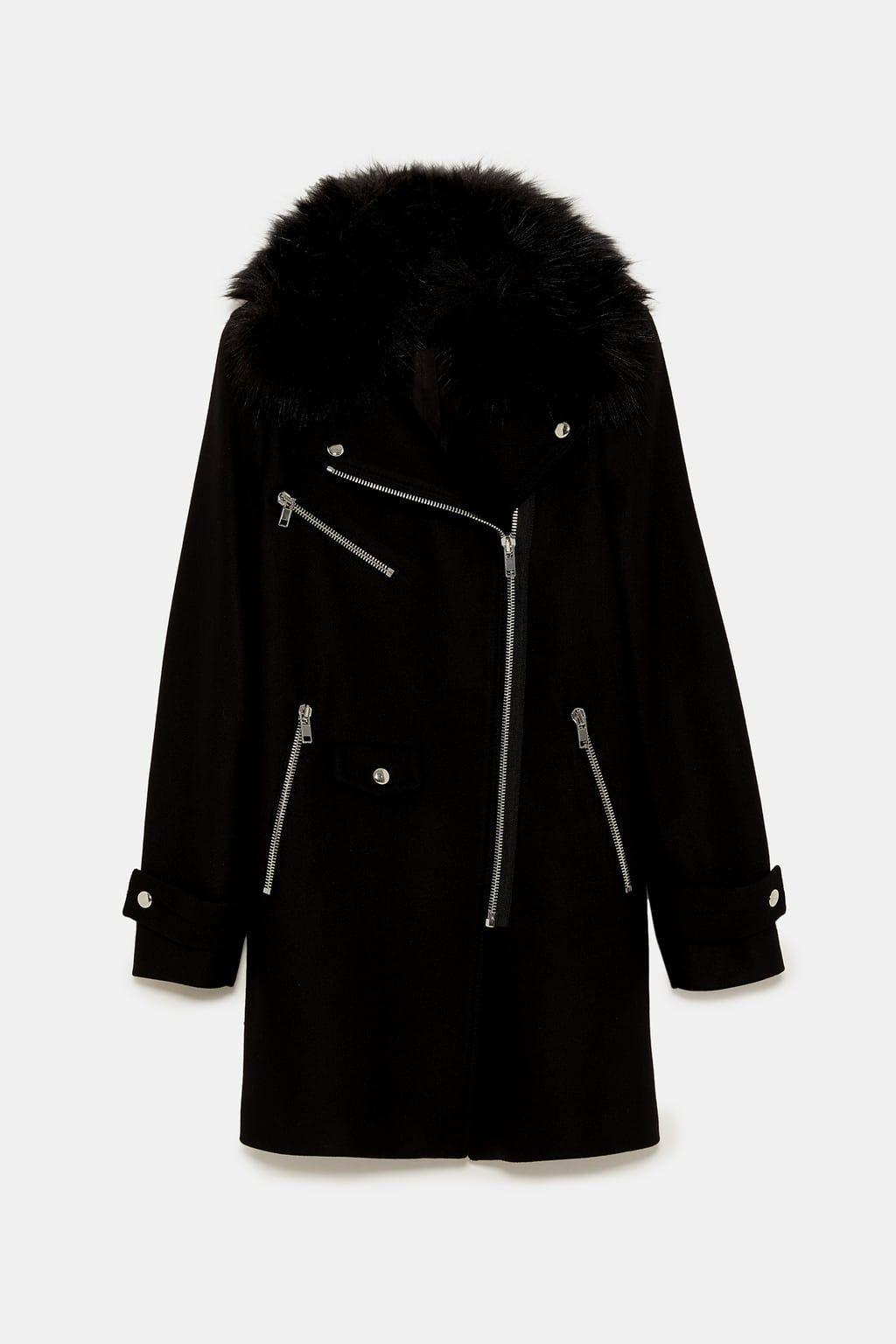 Image 9 of COMBINED BIKER COAT from Zara   My Shopping Cart